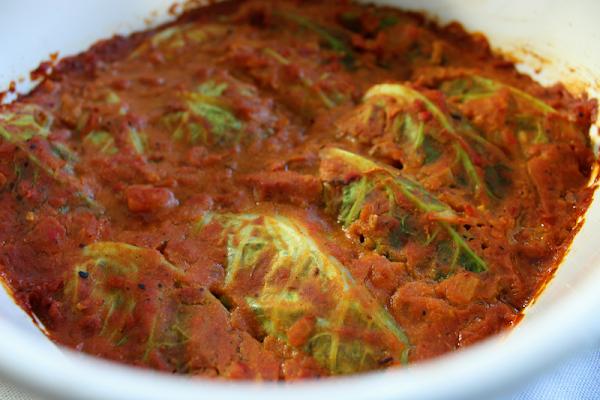 Vegetarian Stuffed Cabbage Rolls