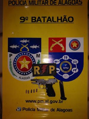 Em Delmiro Gouveia, após efetuar disparos,  homem é preso por porte ilegal de arma de fogo