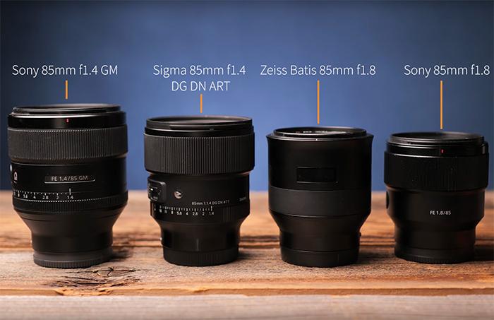 Сравнение габаритов объективов 85mm для Sony E