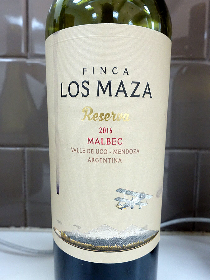 Finca Los Maza Reserva Malbec 2016 (89 pts)