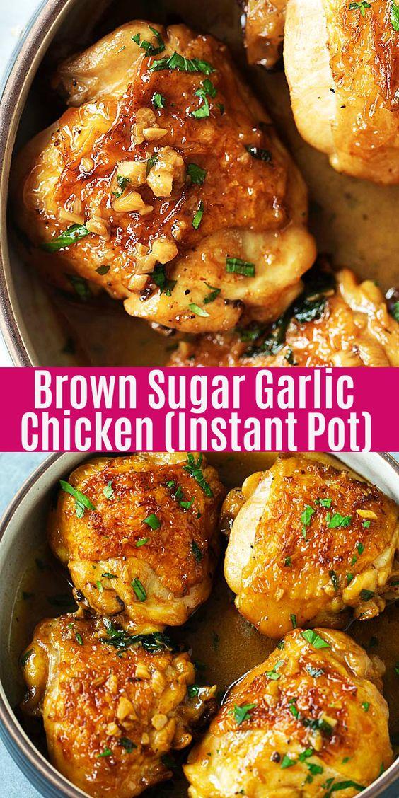 Quick Instant Pot Brown Sugar Garlic Chicken Recipe