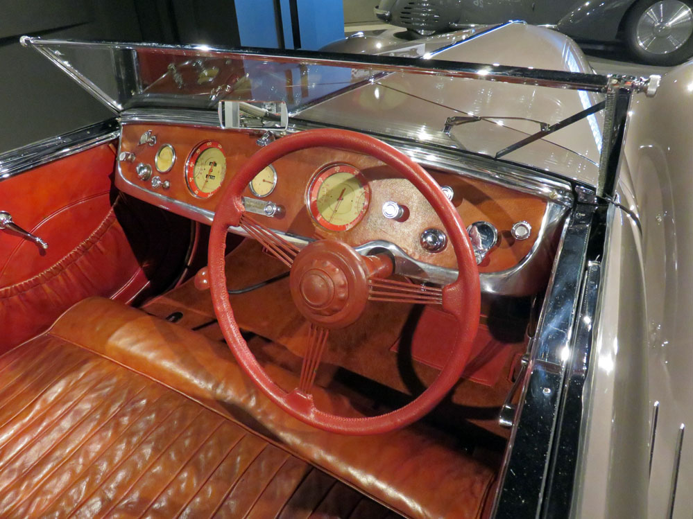 Interior of streamlined car.