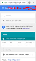 how to delete google search bar history on android