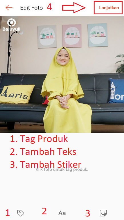 Mengedit Photo Feed Langsung di Aplikasi Marketplace Shopee.