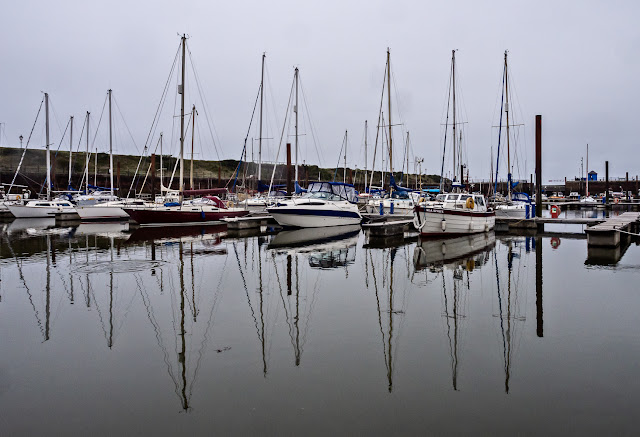 Photo of calm water in Maryport Marina on Monday afternoon