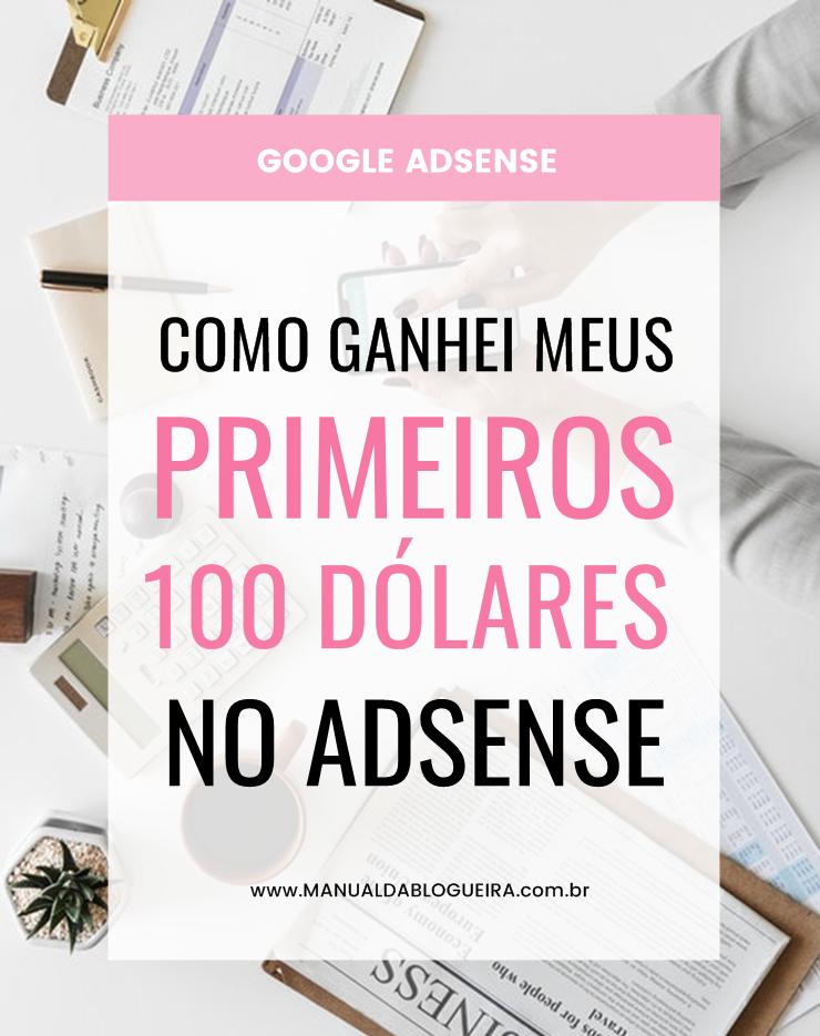 100 dólares no Adsense