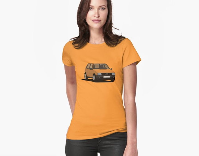 80's Fiat Uno (Type 146) T-shirts orange