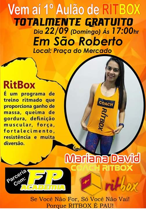 Vem aí o 1° Aulão de RITBOX em SÃO ROBERTO