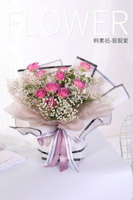 Kertas Buket Bunga / Flower Bouquet Wrapping Paper (Seri HX HHA)