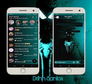 Black Spider Man Theme For YOWhatsApp & Fouad WhatsApp By Driih Santos
