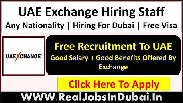 UAE Exchange Hiring Staff In Dubai - 2021