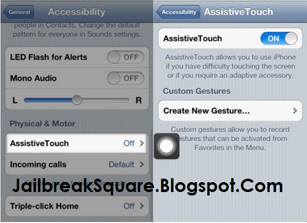 Activate AssistiveTouch iPhone
