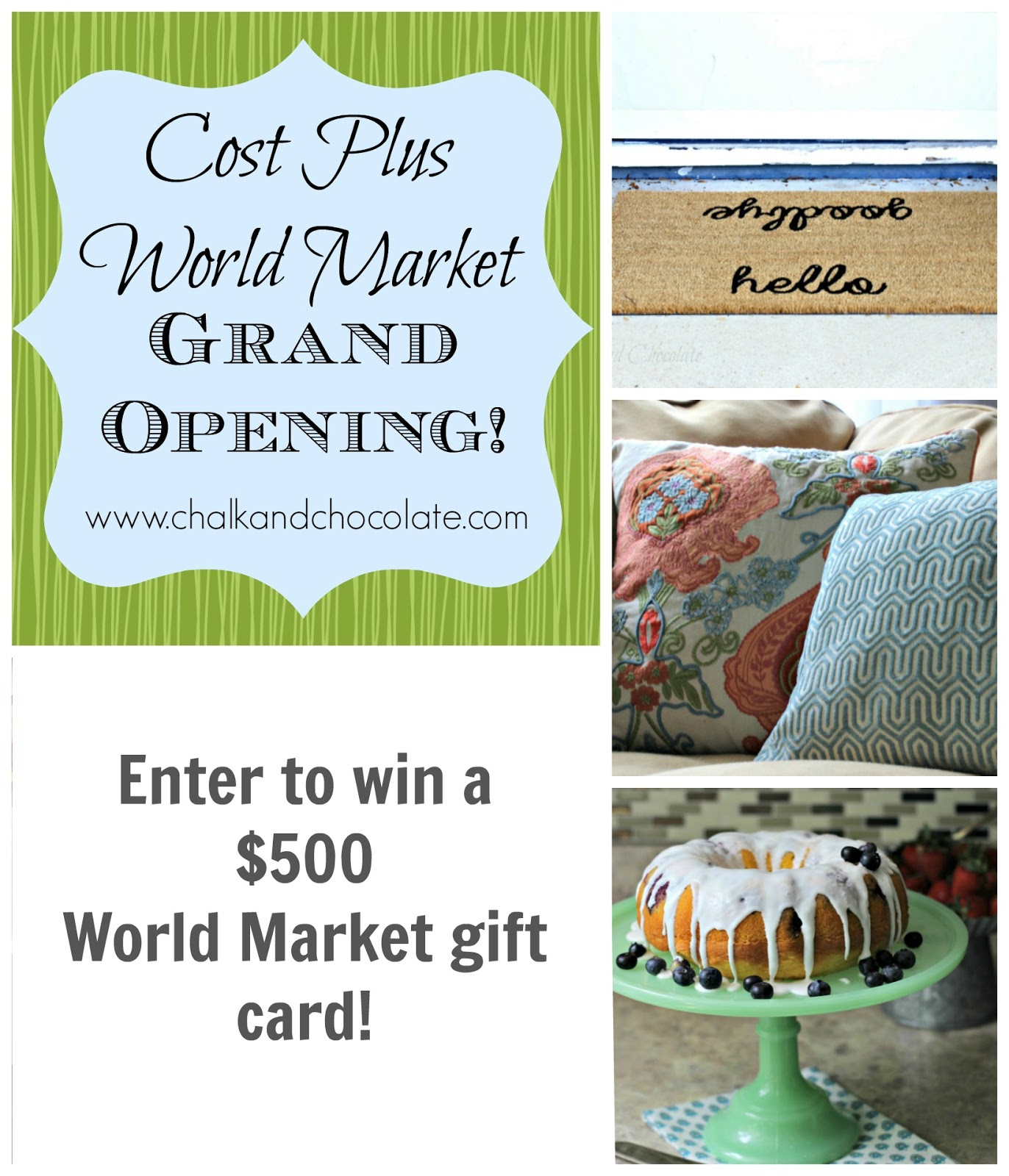 Cost Plus World Market: Cost Plus World Market Grand Opening And A Giveaway
