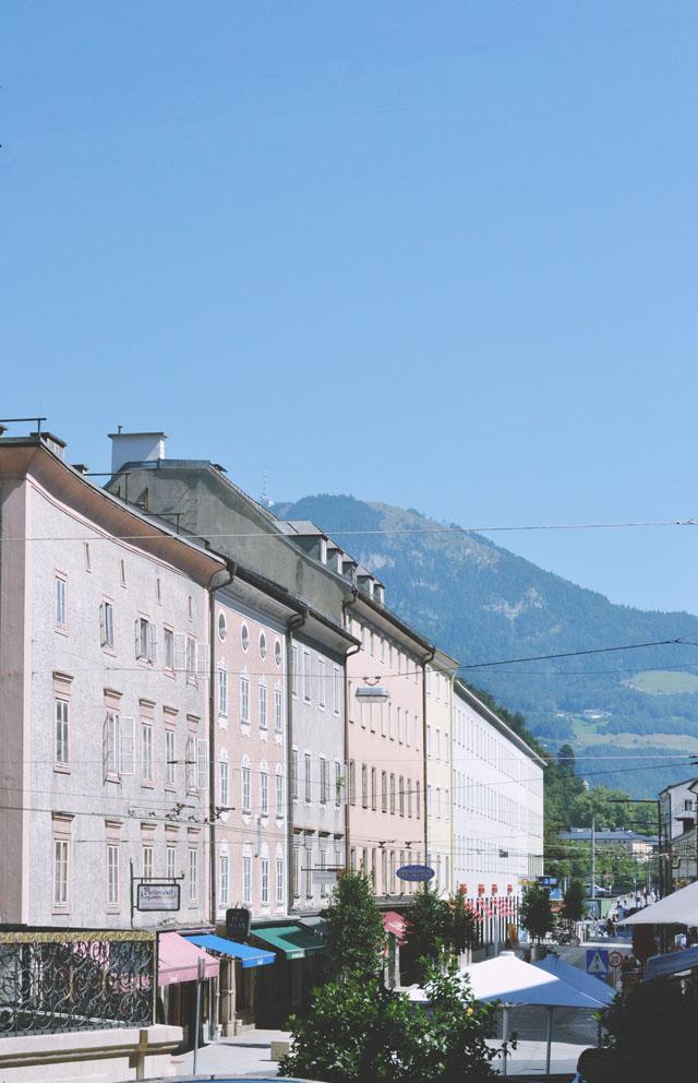Salzburg old town street