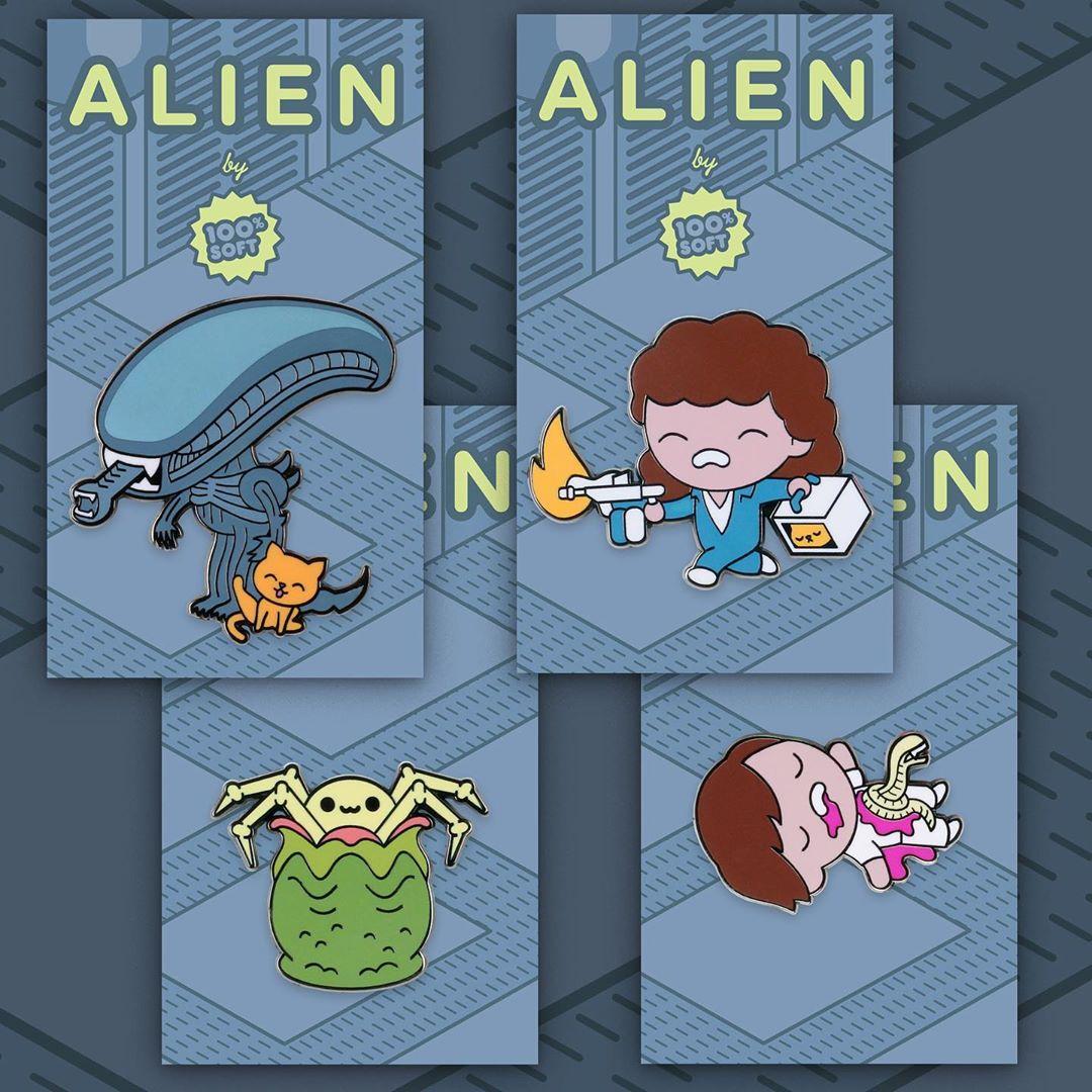 Mondo 3 Xenomorph Enamel Pin SET Alien Aliens Chestburster Kane