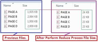 output of Reduce PDF Size