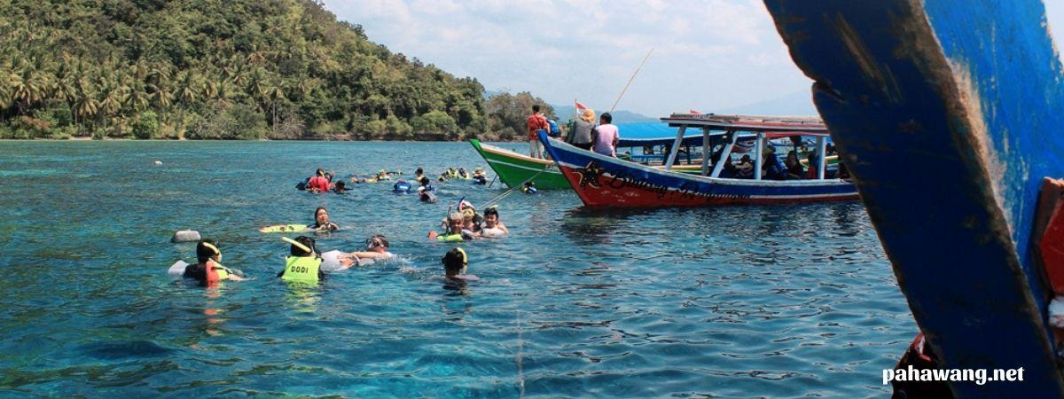 paket open trip wisata pulau pahawang lampung
