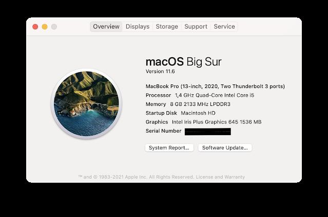 Pengaturan macbook