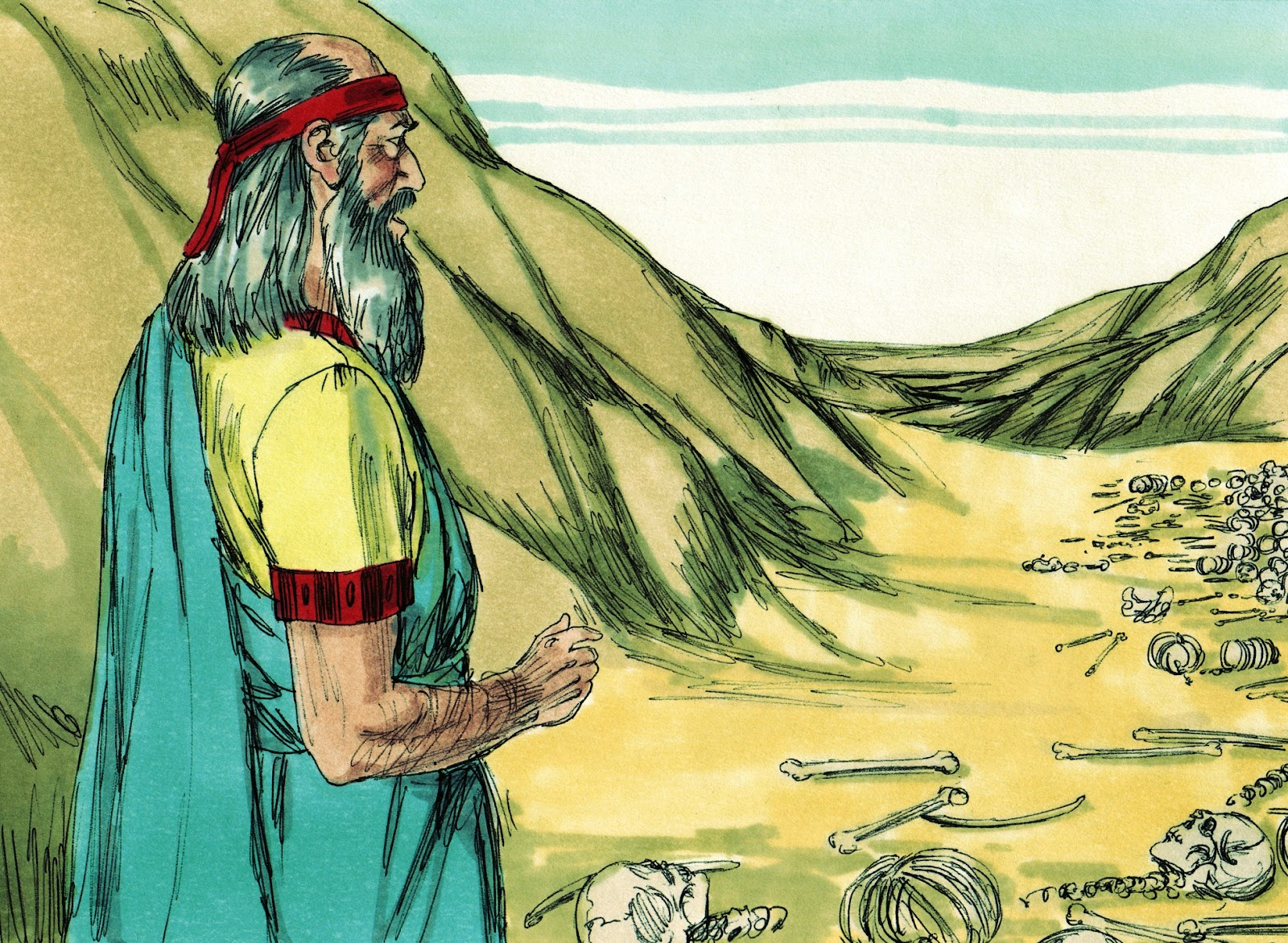 Bible fun for kids cathy s corner ezekiel and the valley of the dry