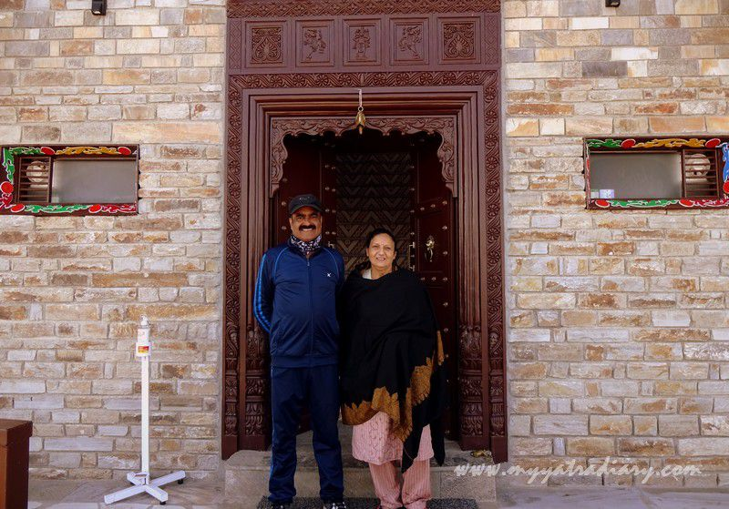 Warm and humble owners of the The Himalayan Bungalow Boutique homestay Almora