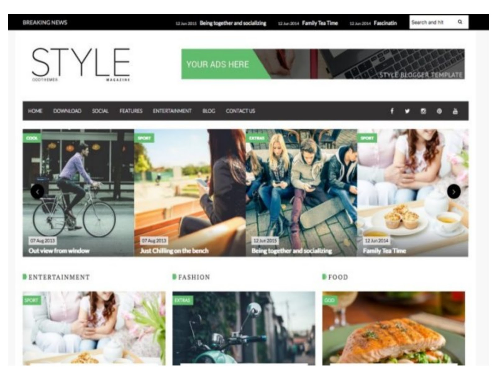 Style Magzine Blogger Template