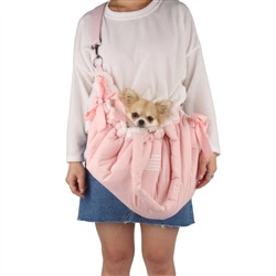 Cloudy Dog Carrier in Pink
