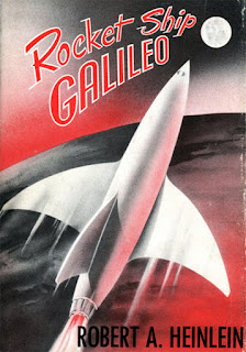 Cover for Robert Heinlein's novel Rocket Ship Galileo, 1947