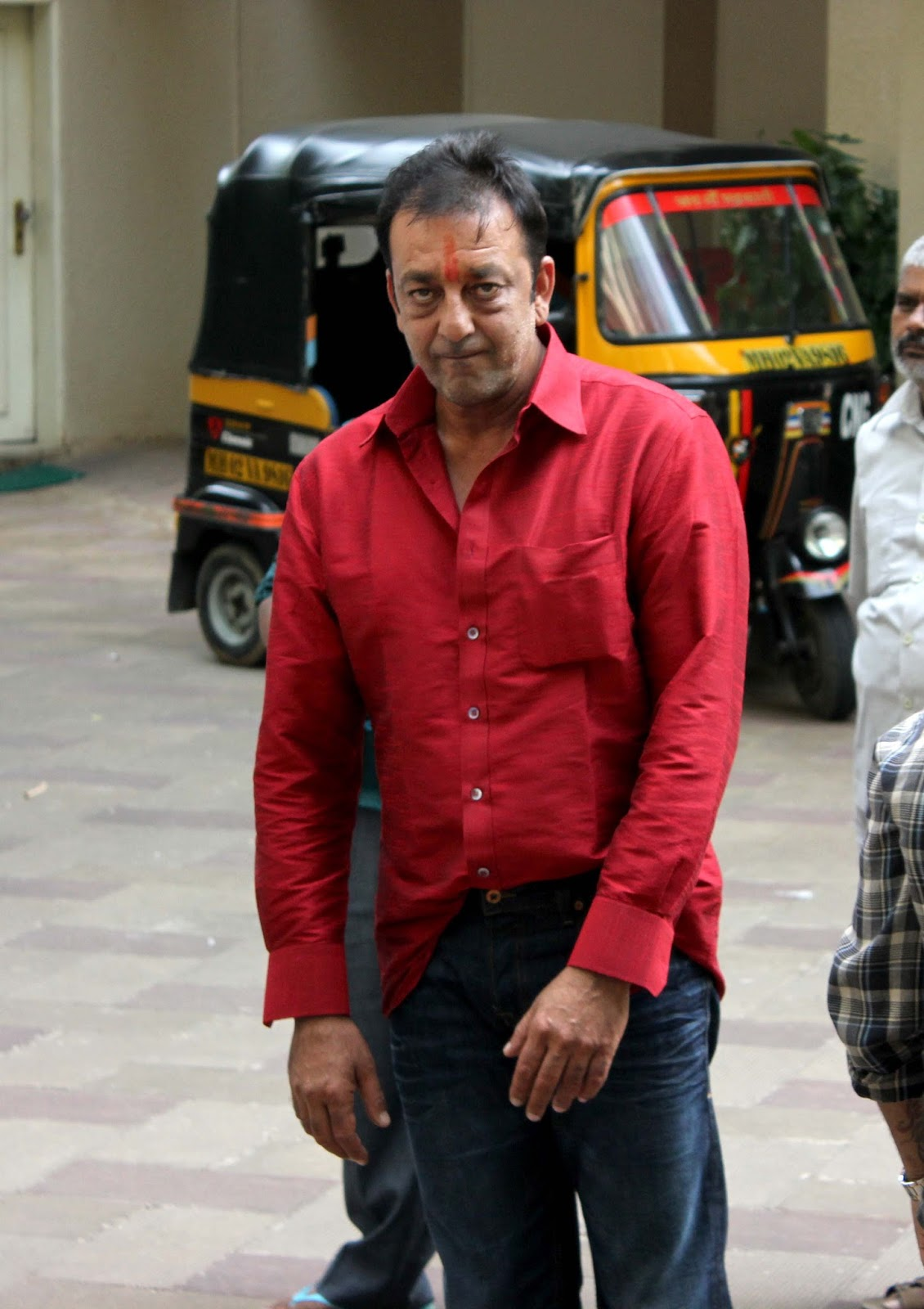 Bollympix: Sanjay Dutt spotted at his home.