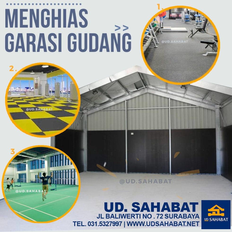 ide dekorasi gudang jadi area olahraga berguna