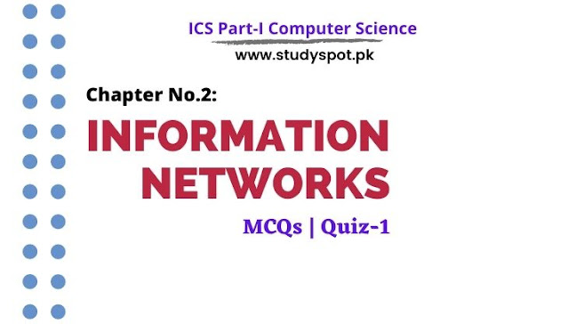 ICS Part-I, computer chapter no.2 information networks MCQs with answers