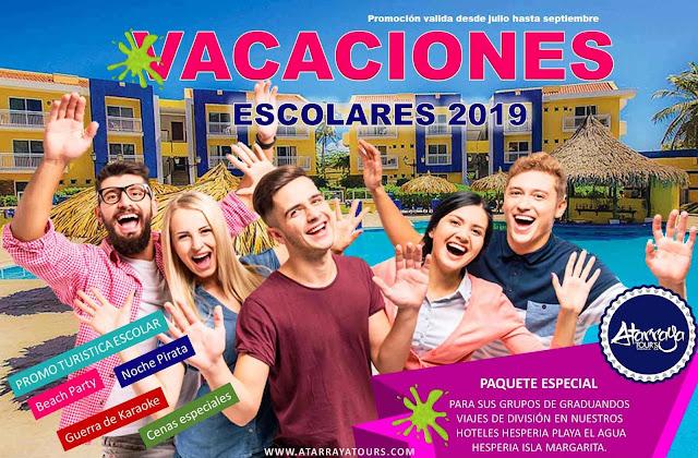 Vacaciones escolares 2019 Paquete especial Isla de Margarita