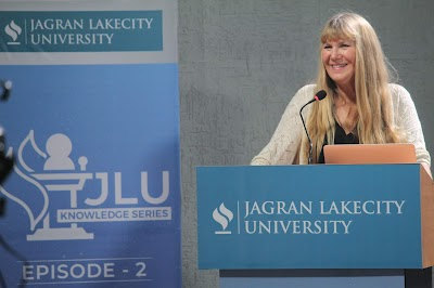 "JLU Knowledge Series: Episode 2 ""Living and Working in Space"" by Dr Leslie Wickman AKA Rocket Girl."