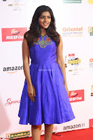 Eesha in Cute Blue Sleevelss Short Frock at Mirchi Music Awards South 2017 ~  Exclusive Celebrities Galleries 032.JPG