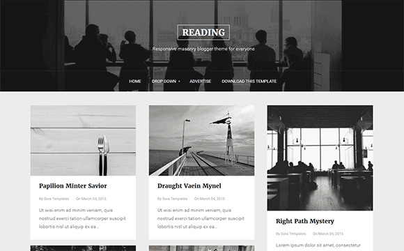 Reading professional blogger template free download