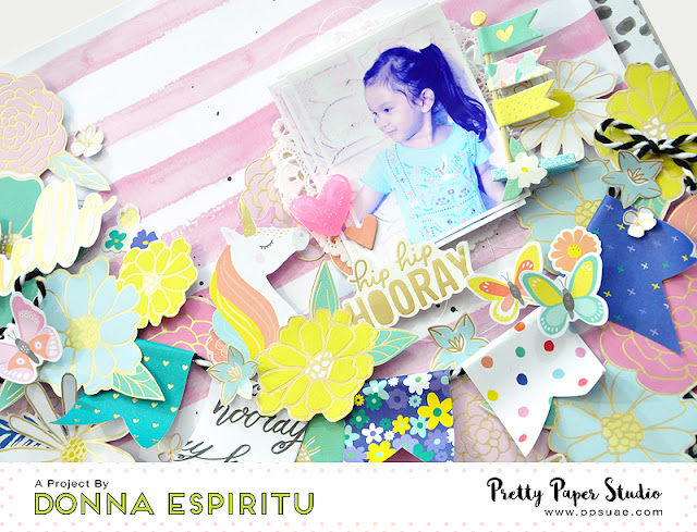 Pretty Paper Studio: Festive themed layout - Stay Colorful collection by Dear Lizzy | Tutorial