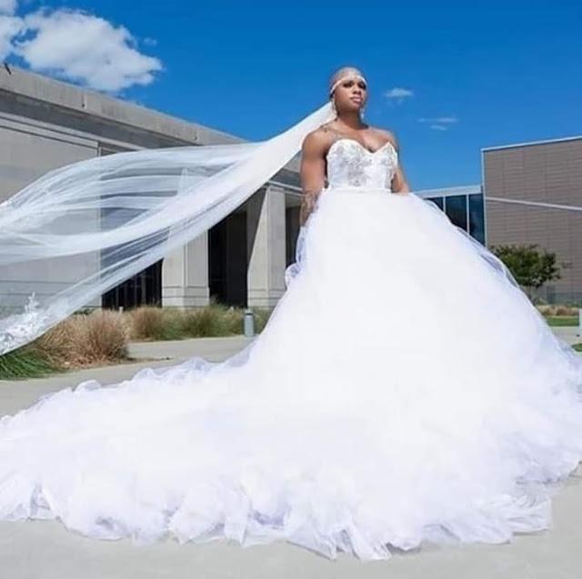 Female Bodybuilder bride