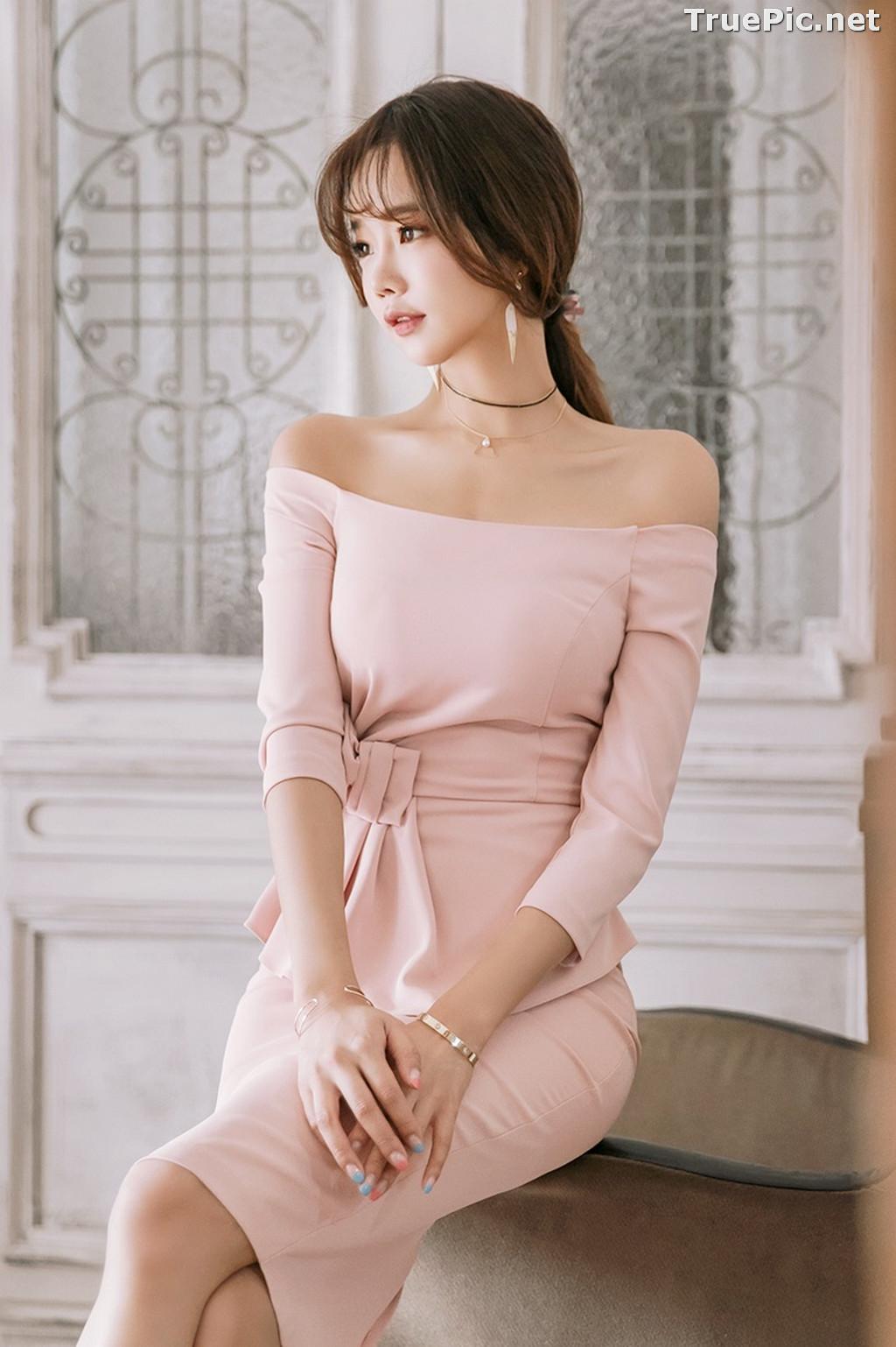 Image Korean Fashion Model - Kang Eun Wook - Slim Fit Bodycon Dress - TruePic.net - Picture-1