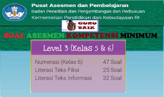 Contoh Soal Latihan Akm Level 3 Kelas 5 Dan 6 Guru Baik