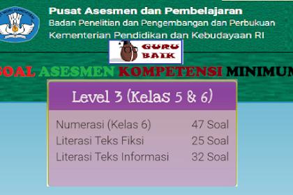 Contoh Soal Latihan AKM Level 3 | Kelas 5 Dan 6