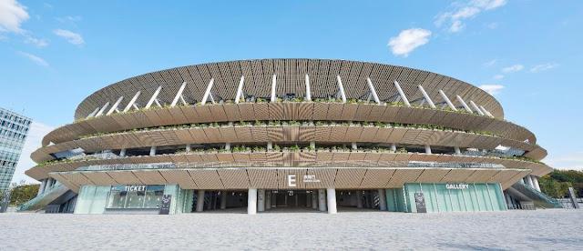 Estádio Olímpico da abertura e encerramento dos Jogos Olímpicos e Paralímpicos Tóquio 2020
