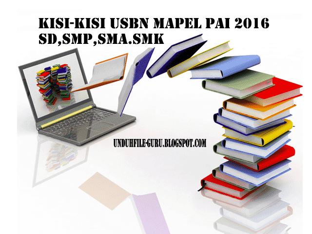 Unduh Kisi-Kisi USBN Mapel PAI SD, SMP, SMA, SMK Tahun 2016