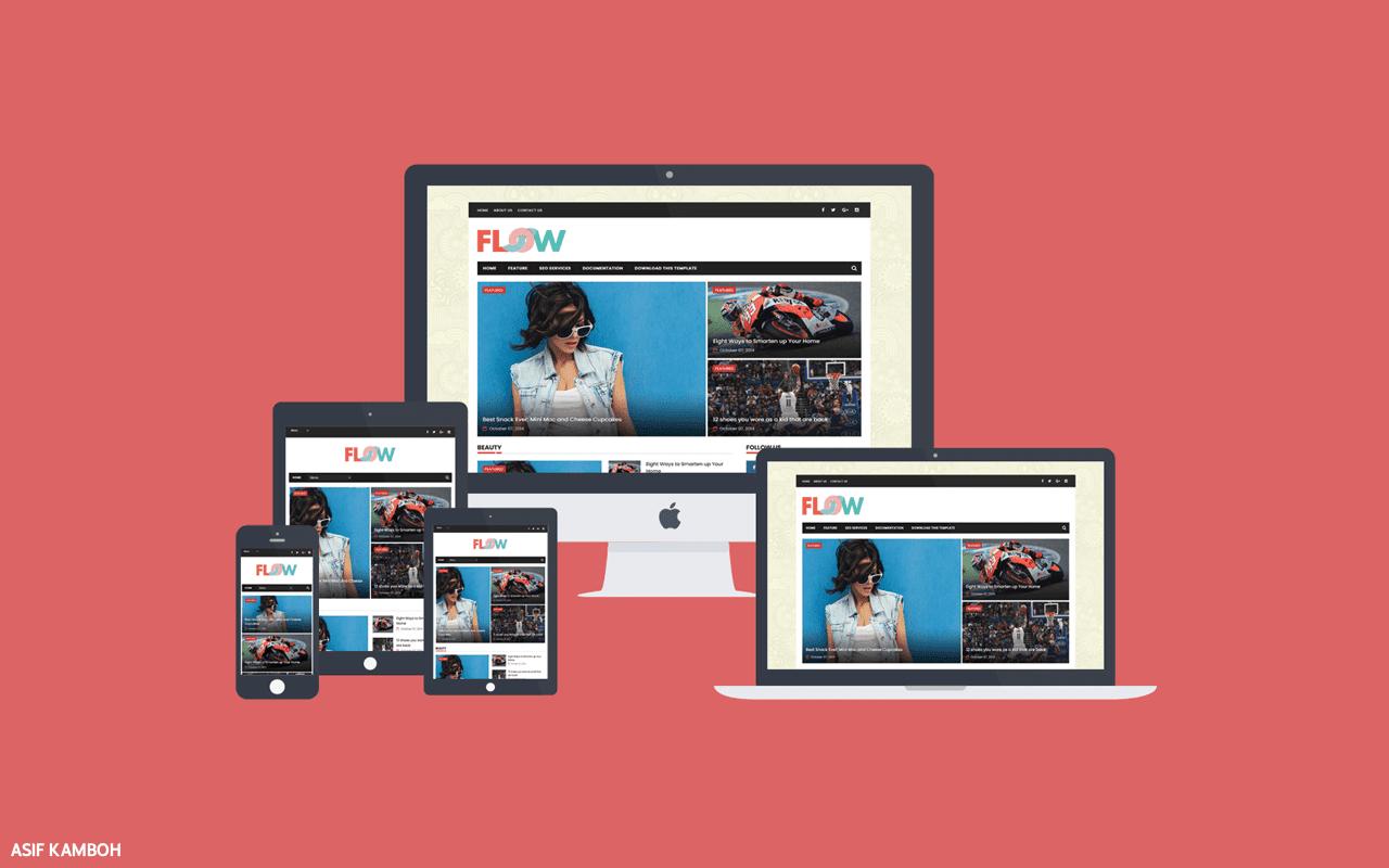 Flow Magazine Premium Blogger Template