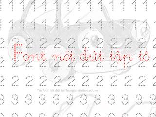 Font Chữ Nét Đức Cho Tập Viết