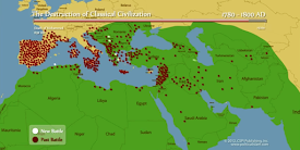 Map of Crusades and Jihads