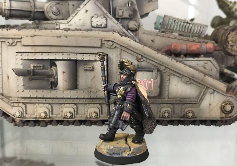 40k Hobby Blog Lord Solar Macharius In Front Of A Macharius