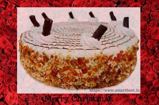 Merry Christmas Celebration With Delicious Mouth-watering Cake.