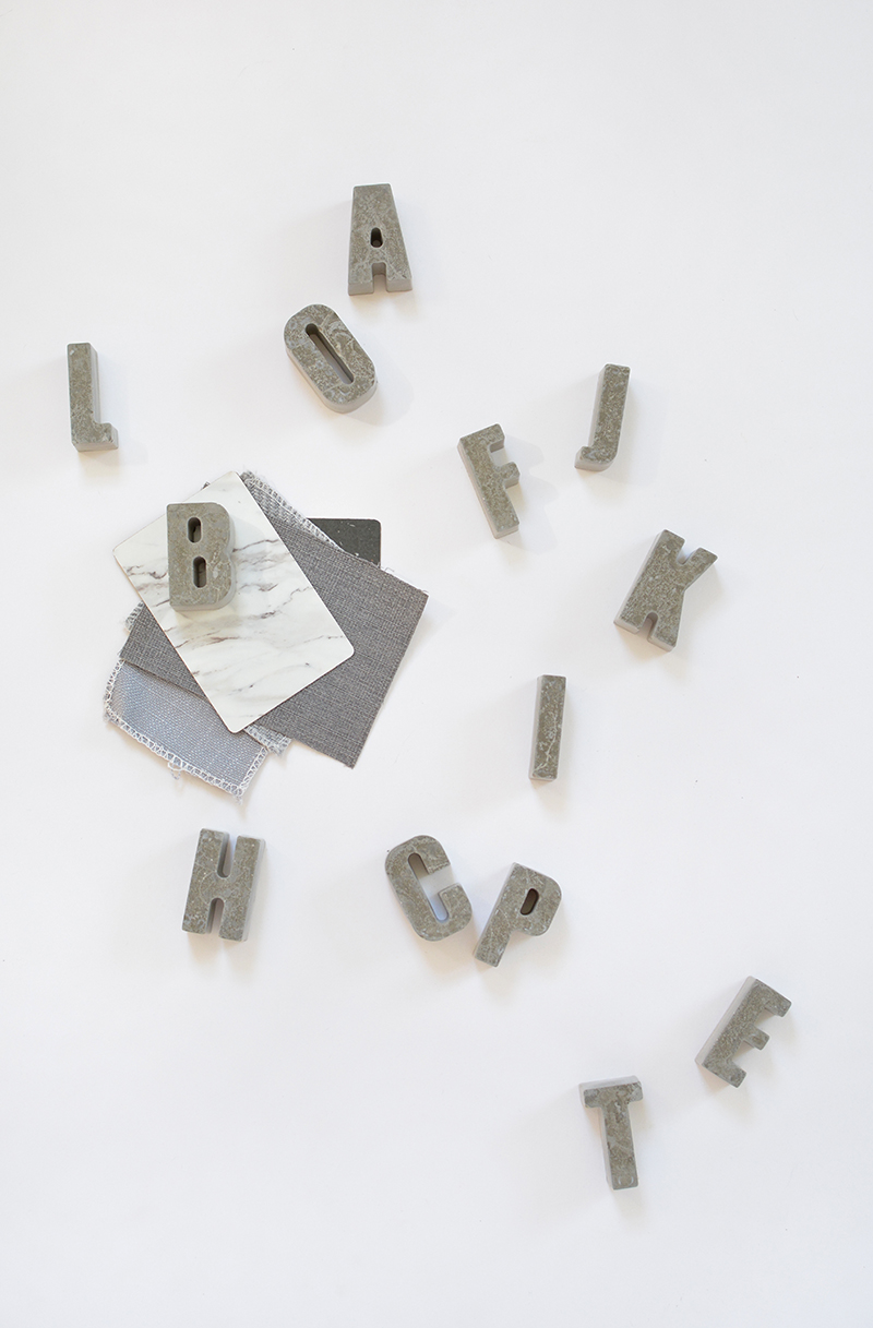 concrete alphabet DIY projects
