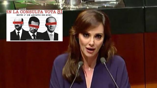 """""""Son ineptos, cobardes y serviles"""", La PANISTA Lilly Téllez le tunde a Morena por consulta a expresidentes"""