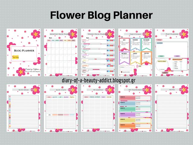 Flower Blog Planner