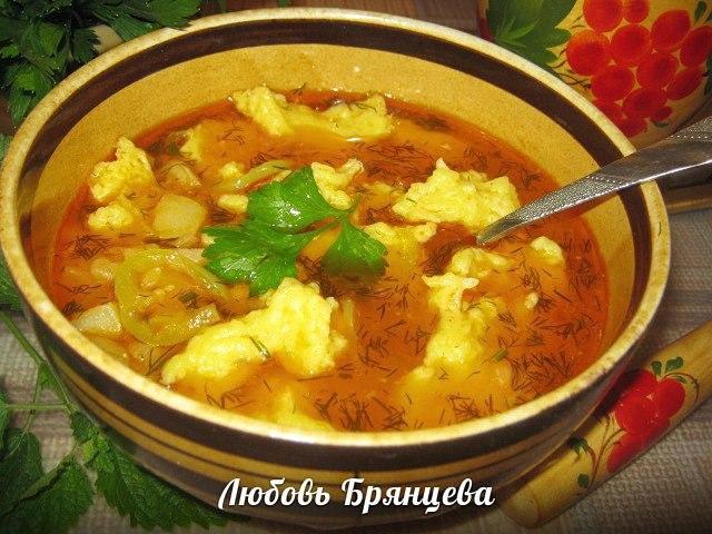 как сварить красный суп с галушками